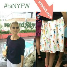 I spotted a Jellyfish skirt (from Nordstrom) at the rewardstyle rooftop party in #NYC (Sunday 11/13/15). Fun!   #rsnyfw thanks for the invite!! Coastal Fashion: https://www.pinterest.com/complcoastal/coastal-fashion/