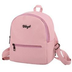 New fashion preppy style solid women rucksack simple travel bag