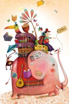 Pink elephant! Love it!! Marie Desbons