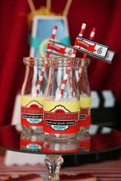 Hollywood movie birthday party drinks! See more party ideas at CatchMyParty.com!