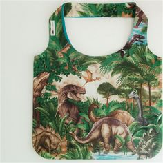 Dinosaur Tote Bag - ready to post Turquoise Fabric, Show Us, North America, Tank Man, Geek Stuff, Quilts, Tote Bag, Mens Tops, Baby