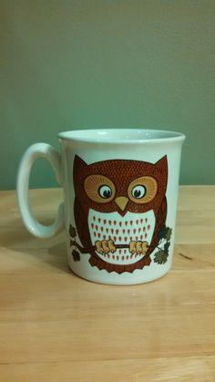 Vintage Owl Coffee Mug by CollectorsAgency on Etsy