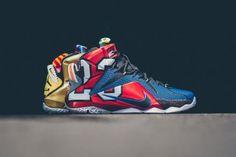 NIKE LEBRON XII SE MULTI-COLOR/PHANTOM-MTLC CACAO #sneaker
