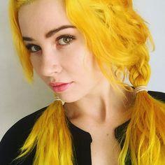 Vibrant Yellow Hair