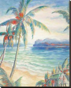 Tropical Breeze I Stretched Canvas Print by Alexa Kelemen at Art.com