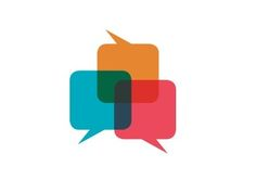 love the color story + direction of the speech bubbles in this logo by Josh Baker.  it looks like a fun conversation.