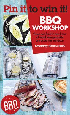 Repin deze post en maak kans op 2 kaartjes voor de Allerhande BBQ-Workshop! Bekijk de actievoorwaarden: www.ah.nl/pinterest-voorwaarden Wil je je inschrijven voor de kookworkshop? Ga dan naar: http://www.miele.nl/allerhandekookworkshop6