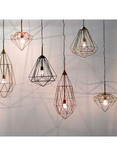 Hanglamp+Diamond+S+-+metaal+-+messingkleurig,+Pols+Potten