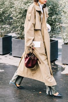 14 Perfect Trench Coat Outfits via @WhoWhatWearUK
