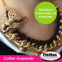 Lindo collar de leopardo que esta super trendy #UnMillóndeCuentas