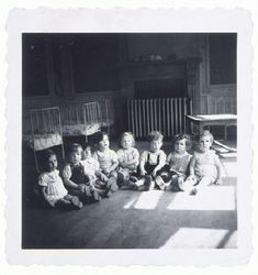 After World War II, thousands of Jewish children ended up in orphanages all over Europe as a result of the Holocaust. The toddlers in this children's home in Etterbeek, Belgium, survived in hiding, but their parents had been deported to Auschwitz. World History, World War Ii, Lest We Forget, Interesting History, Believe, Kids House, Historical Photos, Wwii, The Past