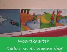 Woordkaarten 'Kikker en de warme dag'