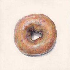 This delicious doughnut painting looks good enough to eat. #etsy #art
