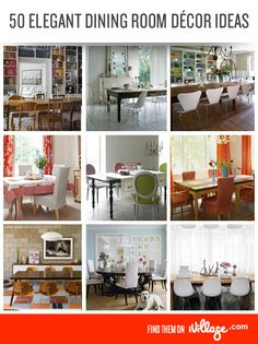 From country chic to modern minimalist, here are our favorite dining room designs. #home #decor http://www.ivillage.com/dining-room-decor-ideas/7-b-257933?cid=pin|homedecor|diningrooms|11-20-12