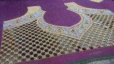 Cut work ,zari amd kundan embroidery for a Saree blouse
