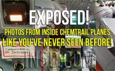 They Poison Us! Photos From Inside Chemtrail Planes Like You've Never Seen Before!