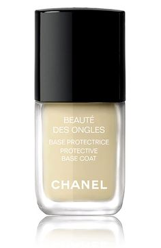 From The Best Base Coats and Top Coats: What Makes a Manicure Go the Extra Mile  Chanel Beauté Des Ongles Protective Base Coat, $26