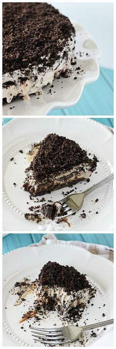 Frozen Mississippi Mud Pie- swap the coffee ice cream for vanilla or salted caramel ice cream.