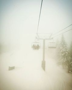 Its like we are in a snow globe ❄ ❄ ❄ #winterwonderland #freshpowder #snowboarding #skiing #snowriders  #Quebec #montsainteanne