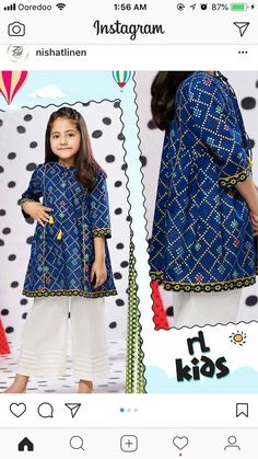Girls Dresses Sewing, Cute Girl Dresses, Little Girl Dresses, Girl Outfits, Kids Indian Wear, Kids Ethnic Wear, Kids Frocks Design, Baby Frocks Designs, Pakistani Kids Dresses