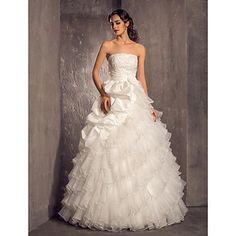 A-line Princess Strapless Floor-length Taffeta And Organza Weddimg Dress (722153) – EUR € 206.24