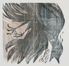 Heiner Bauschert,  (1928-1986) Oelvogel, woodcut
