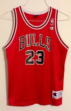c3ba938a1fc Details about Michael Jordan 23 Champion Chicago Bulls NBA Jersey Youth  14-16 Large Boys