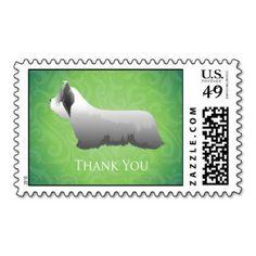 Skye Terrier Thank You Design Postage Stamp