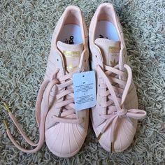 adidas Originals Blush Pink Superstar 80's Sneakers | Sporty