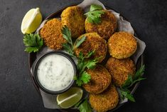 These zesty falafels are the tastiest and easiest homemade appetizers. Baked to perfection with its fresh lime aftertaste, the crispness in taste and texture will leave each bite more than satisfied. Healthy Comfort Food, Healthy Meal Prep, Healthy Baking, Healthy Recipes, Baked Falafel, Dry Chickpeas, Meal Prep For The Week, Savoury Dishes, Hamburgers