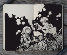 Moleskine Art by Gabriel Picolo  20-year-old artist from Brazil Gabriel Picolo has created an incredible series of manga inspired doodles using just pencil and pen on a Moleskine sketchbook. Gabriel Picolo: Instagram I facebook I deviantArt  more like this I comments I [via]  Follow us: Inspiring Pieces  I Comments