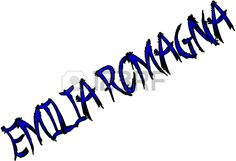 Emilia Romagna text sign illustration writen in Italian on white background