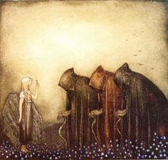 John Bauer - Nordic Myth and Fairytale Art and Illustration John Bauer, Art And Illustration, Old Norse, Fairytale Art, Norse Mythology, German Mythology, Art Plastique, Dark Art, Troll