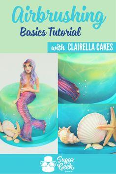 Easy Cake Recipes - New ideas Cake Decorating Techniques, Cake Decorating Tutorials, Food Decorating, Airbrush Cake, Cake Structure, Cake Show, Cake Shapes, Cake Recipes From Scratch, Mermaid Cakes