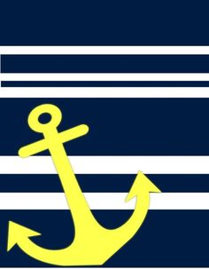Nautical Theme Prints in Navy & Yellow Nautical Prints, Nautical Theme, Gold Anchor Wallpaper, Blue Backgrounds, Wallpaper Backgrounds, Wallpapers, Anchor Pictures, University Of Rhode Island, Ahoy Matey