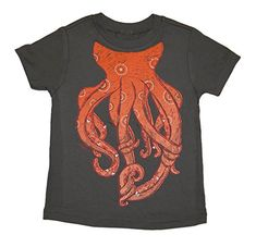 PeekAZoo Toddler Short Sleeve Octopus T-Shirt | Friendly Faces