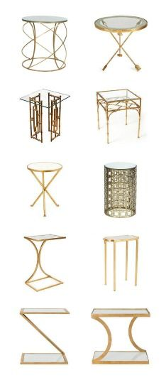 Great brass and glass side tables from One Kings Lane