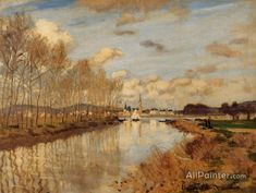 Claude Monet Argenteuil, Seen From The Small Arm Of The Seine oil painting reproductions for sale