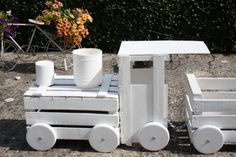 You'll Love This Amazing Crate Train Planter!   The WHOot
