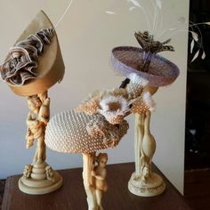 Mushroom inspired hats just made for the Bentart exhibition on this weekend. #christinesmillinery #millinery #racehats