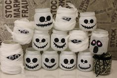 Ghost and ghostface jar candle holder for helloween.