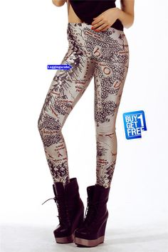 Lord of the ring Middle Earth map Leggings NOT by leggingscube, $19.90