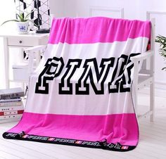 🖤VS PINK Throw Blanket🖤 Victoria's Secret Pink Brand new, just don't use it anymore! ✨ Open to offers, and selective trades. PINK Victoria's Secret Other Victoria Secret Bedding, Victoria Secret Outfits, Victoria Secret Pink, Baby Flannel, Flannel Blanket, Swaddle Blanket, Vs Pink, Pink Girl, Vs Secret