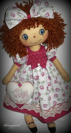 Tea Rose Annie by charmingsbycmh: AVAILABLE ANNIE DOLLS