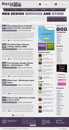 Free PSD template – Web 2.0 Style