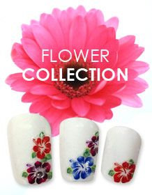 Pick a flower, many styles and colors to choose from. Nail Art Stickers, Nail Decals, Flower Nail Art, Colors, Flowers, Collection, Style, Swag, Colour