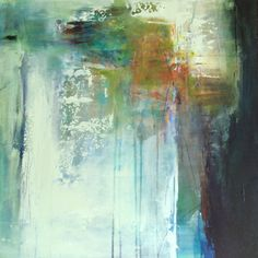 """Daily Painters Of Colorado: Contemporary Abstract Painting """"Yearning"""" by Intuitive Artist Joan Fullerton"""