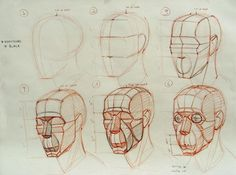 Los Angeles Academy of Figurative Art Head structure demos from Ramon Hurtado's Head, Hands and Costumed Drawing class! Drawing Techniques, Drawing Tutorials, Art Tutorials, Drawing Tips, Anatomy Sketches, Art Sketches, Art Drawings, Human Anatomy Drawing, Anatomy Art