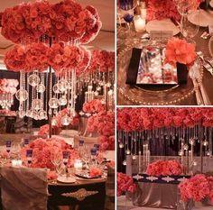 D coration de table pr te poser rouge passion et blanc avec nappe non tiss e chemin de table - Boulette papier mariage ...