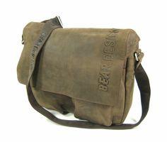 58c753b1ba0 Bear design Leren heren schoudertas reporter tas bruin Business, Satchel, Bear  Design, Bags
